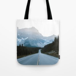Icefields Parkway Sunset Tote Bag