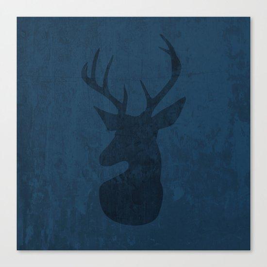 Blue Deer Design Canvas Print