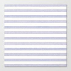 Blue n White Stripe Canvas Print