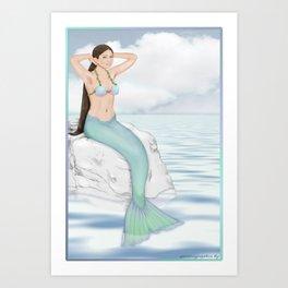 Seaside Mermaid Art Print