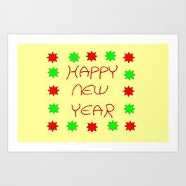 happy new year 3 Art Print