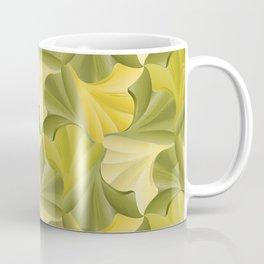 Ginkgo Leaf Foliage Tessalation Coffee Mug