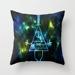 Neon Bill Cipher Throw Pillow