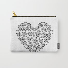 Black and White - Love Bikes Carry-All Pouch