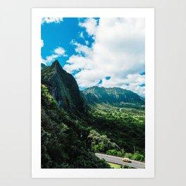 Nu'uanu Pali Lookout, Oahu, Hawaii Art Print