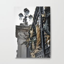 Side Glance at Buckingham Gates Metal Print