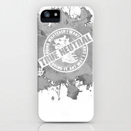 d20 True Neutral Alignment iPhone Case