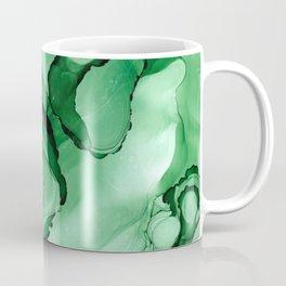 #028 - Monochrome Ink in Green Coffee Mug