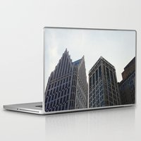 detroit Laptop & iPad Skins featuring Downtown Detroit by Michelle & Chris Gerard