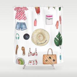 summer essentials Shower Curtain