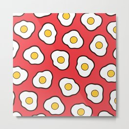 Fried Eggs Pattern Metal Print