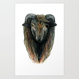Woolen Brother Art Print