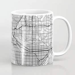 Minneapolis City Map of the United States - Light Coffee Mug