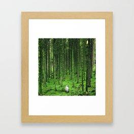 Green Wood Framed Art Print