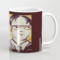 dwight schrute Mugs featuring Michael & Dwight by Melissa Dilger