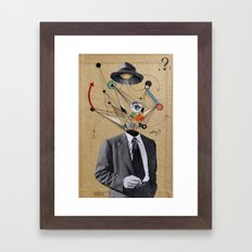 THE MAN WHO QUESTIONED EVERYTHING Framed Art Print
