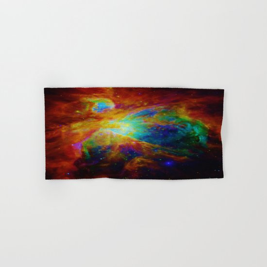 Orion NEBula  : Colorful Galaxy Hand & Bath Towel