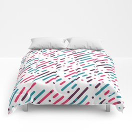 Parallel Colorful Pattern Comforters
