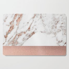 Rose gold marble and foil Cutting Board