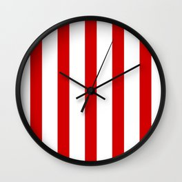 Red vertical lines Wall Clock
