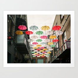 Ireland Dublin | Colorful street photography | Umbrella's Art Print