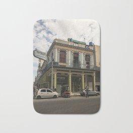 Nice lookin' street corner in La Havana, Cuba Bath Mat