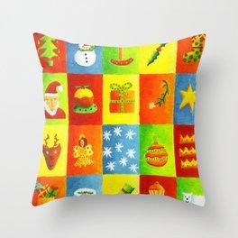 Christmas things Throw Pillow