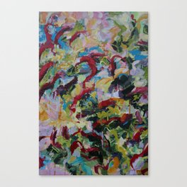 Unchained: Bold and Colorful Orginal painting Canvas Print