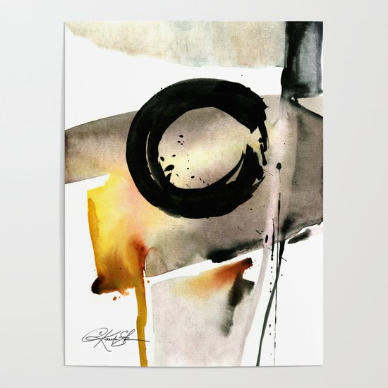 Enso Abstraction No. 105 by Kathy morton Stanion by kathymortonstanion