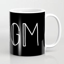 SSDGM white text on black Coffee Mug