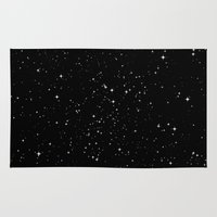 stars Area & Throw Rugs featuring Stars by Jorge Lopez