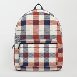 Plaid Red White And Blue Lumberjack Flannel Backpack