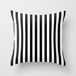 Large Black and White Cabana Stripe Throw Pillow