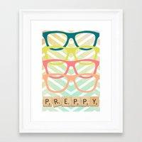 preppy Framed Art Prints featuring Preppy by BlytheStarlight