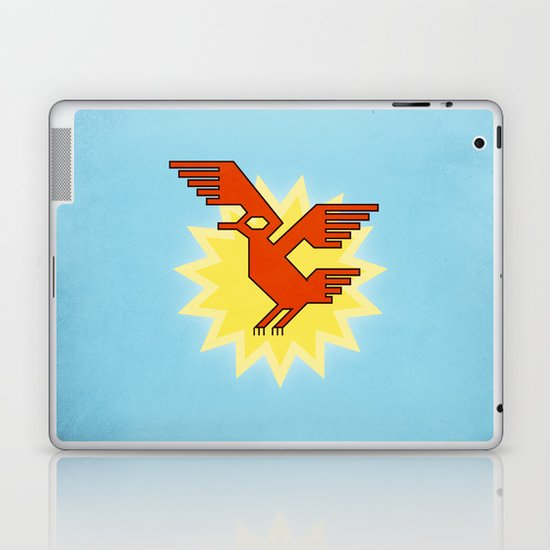 Geometric Andean Condor Bird Laptop & iPad Skin