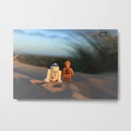 droid at the beach Metal Print