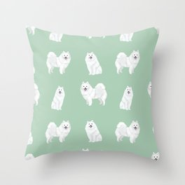 Japanese Spitz pure breed dog pattern pet gifts for dog lovers Throw Pillow
