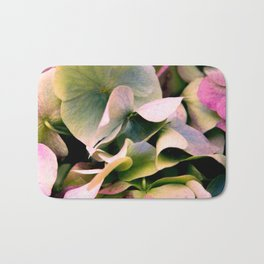 pink and green hydrangea Bath Mat
