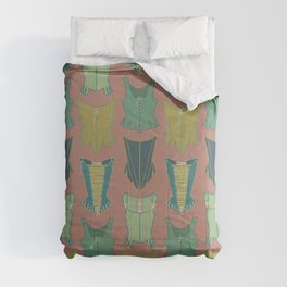 18th Century Corset Stays Illustrated Pattern Print Comforters