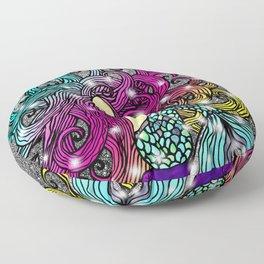 Rainbow Mermaid Floor Pillow