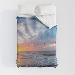 Daybreak at Hilton Head - Sunrise Along Beach at Hilton Head Island in South Carolina Comforters