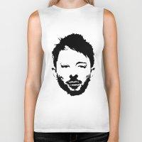 radiohead Biker Tanks featuring Thom Yorke, Radiohead by Jan Hoksbergen