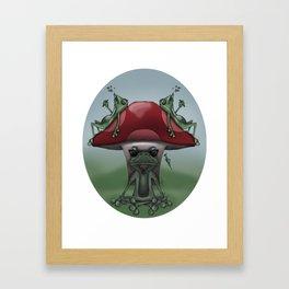 Shroom Frogs Framed Art Print