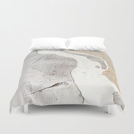 Feels: a neutral, textured, abstract piece in whites by Alyssa Hamilton Art Duvet Cover