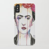 frida iPhone & iPod Cases featuring Frida by SirScm
