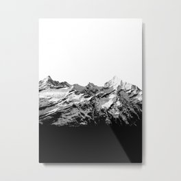 Mountain(black and white) Metal Print