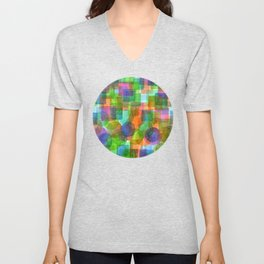 Befriended Squares and Bubbles Unisex V-Neck