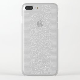 Furr Division Cats (Dark Blue) Clear iPhone Case