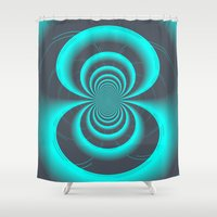 inception Shower Curtains featuring Inception by Angela Pesic