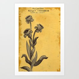 Teacup Daisies Art Print